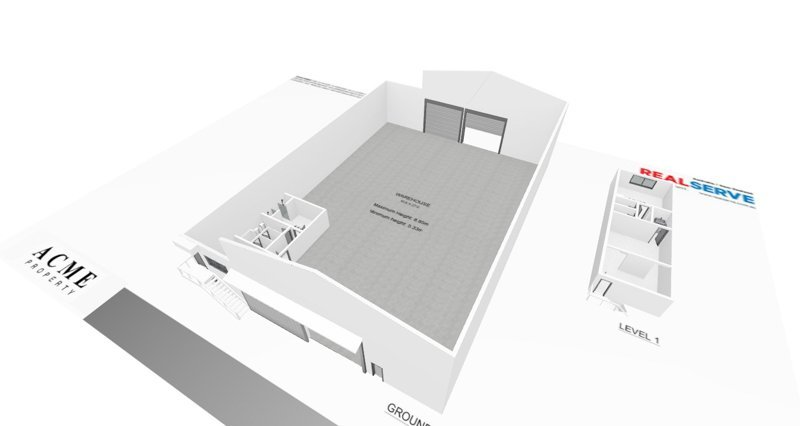 REALSERVE INTERACTIVE FLOOR PLAN WITH 3D SCANNING AND MODELLING SAMPLE OF AN INDUSTRIAL SPACE