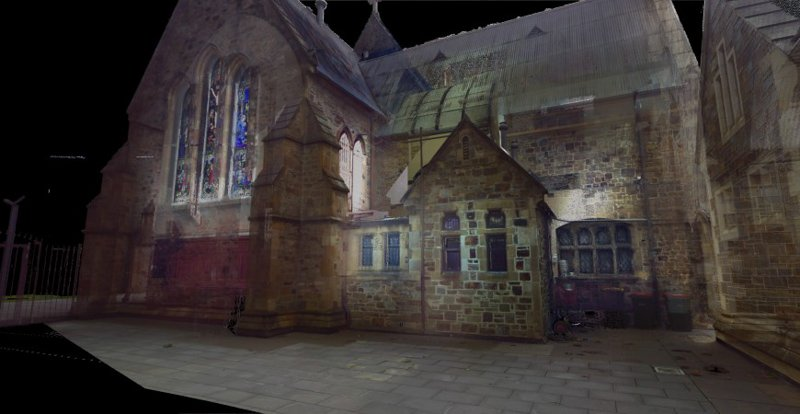 REALSERVE REALITY CAPTURE 3D SCANNING AND MODELLING SERVICES SAMPLE OF A HISTORIC BUILDING BACK DOOR