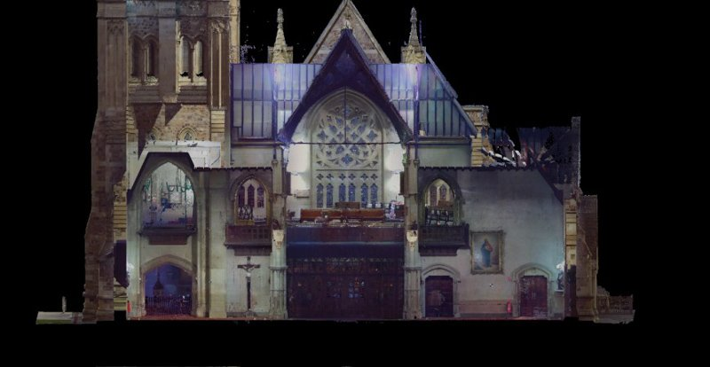 REALSERVE REALITY CAPTURE 3D SCANNING AND MODELLING SERVICES SAMPLE OF A HISTORIC BUILDING FRONT ENTRANCE