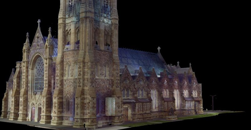 REALSERVE REALITY CAPTURE 3D SCANNING AND MODELLING SERVICES SAMPLE OF A HISTORIC BUILDING FRONT QUARTER