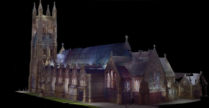 REALSERVE REALITY CAPTURE 3D SCANNING AND MODELLING SERVICES SAMPLE OF A HISTORIC BUILDING REAR QUARTER