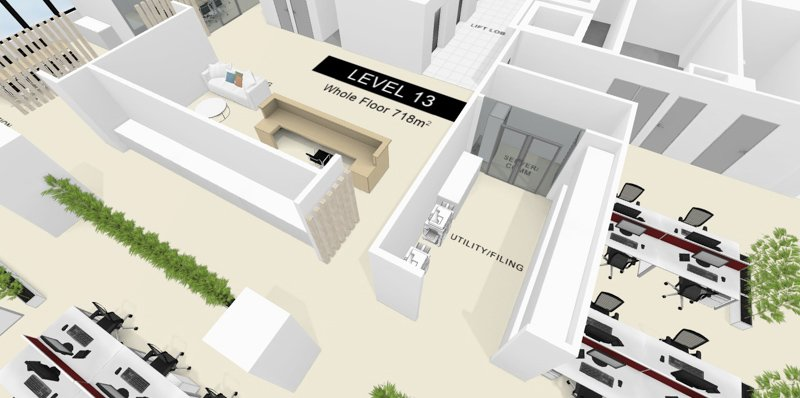 REALSERVE INTERACTIVE FLOOR PLAN WITH 3D SCANNING AND MODELLING SAMPLE OF AN OFFICE SAMPLE OF AN OFFICE AREA