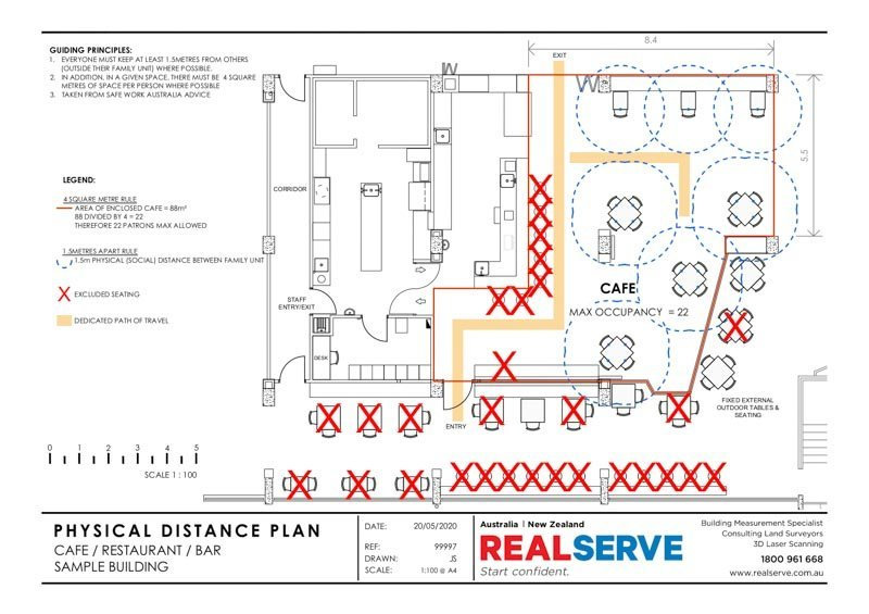 A REALSERVE PHYSICAL DISTANCING PLAN SAMPLE FOR A SMALL BUSINESS LIKE A CAFE