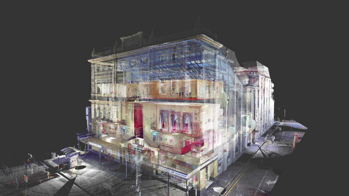 REALSERVE SAMPLE OF A 3D POINT CLOUD USED IN BUILDING VERIFICATION SERVICES