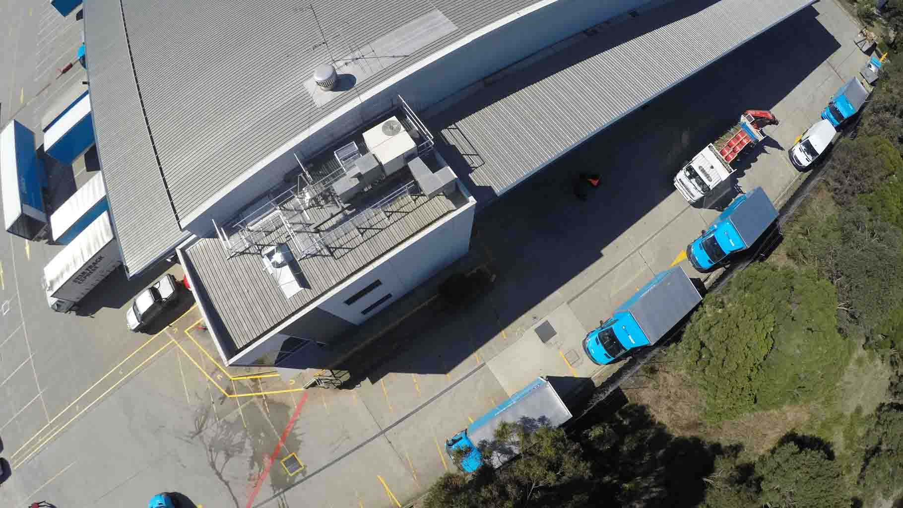 AERIAL SURVEY FOR BUILDING VERIFICATION SERVICE SAMPLE OF A WAREHOUSE FROM REALSERVE
