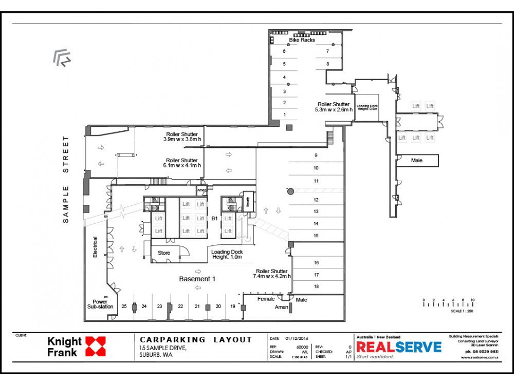 BASEBMENT CAR PARKING PLAN SAMPLE FROM REALSERVE FOR A PERTH PROPERTY
