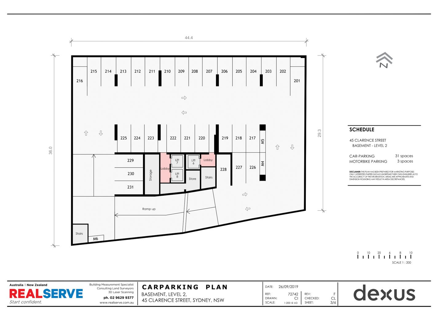 CAR PARKING PLAN FROM REALSERVE FOR A CITY BUILDING