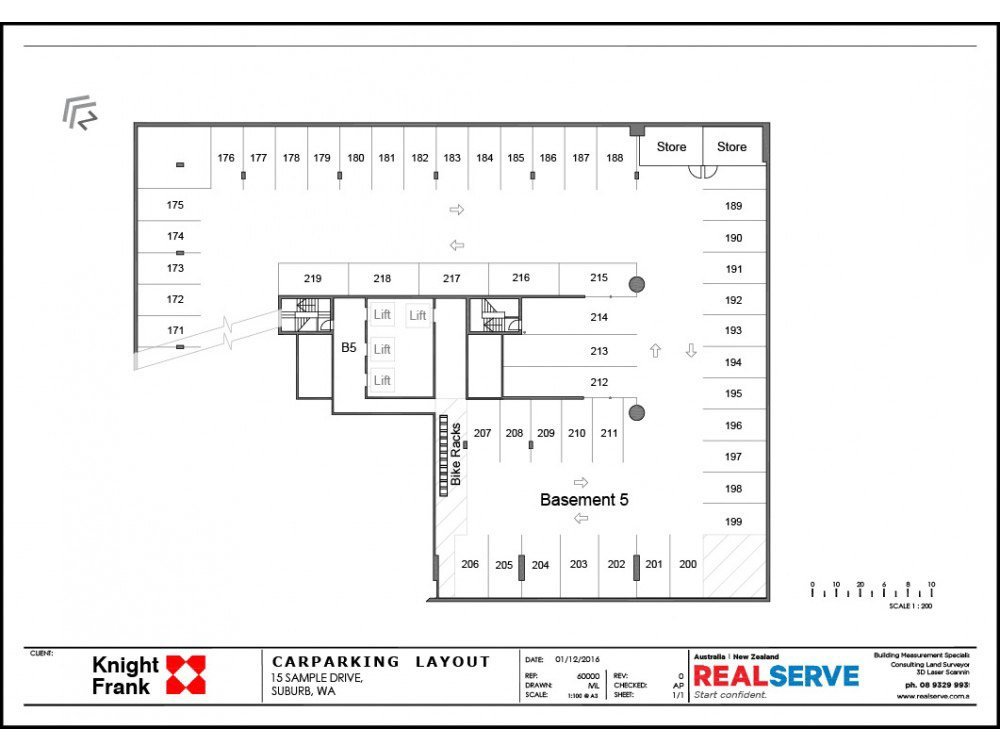 CAR PARKING PLAN SAMPLE FROM REALSERVE FOR A COMMERCIAL PROPERTY