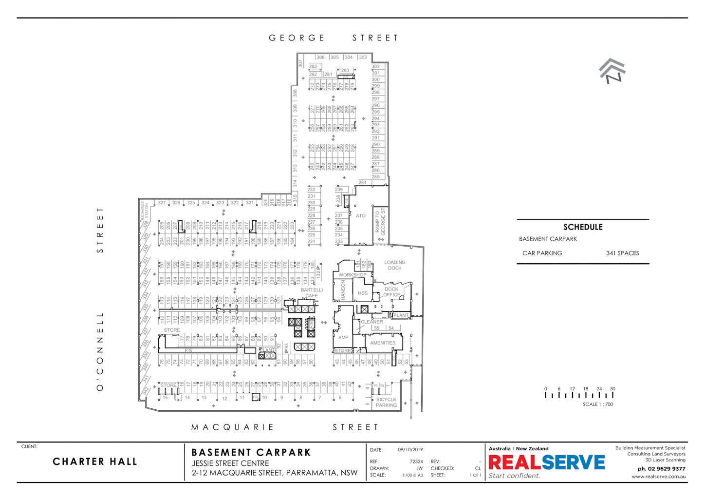 CAR PARKING PLAN SAMPLE FROM REALSERVE FOR A PARRAMATTA PROPERTY