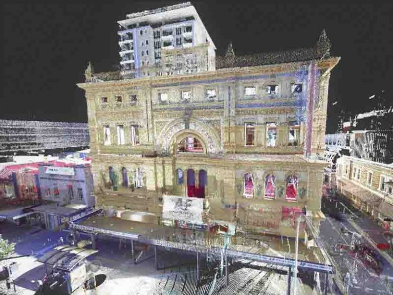 3D Scan and virtual view of Adelaide Her Majestys Theatre by Realserve Pty Ltd building measurement service