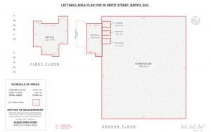 REALSERVE LEASING SURVEY PLAN SAMPLE FOR A INDUSTRIAL BUILDING
