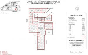 Lettable Area Survey Plan sample for a storage cage in a commercial building