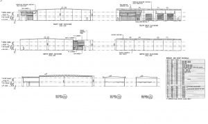 Sections and Elevations Plan for an Industrial Building created by Realserve