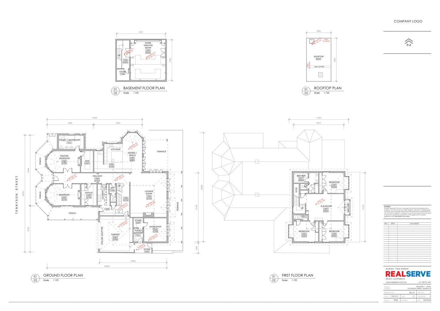 A SAMPLE OF A EXISTING CONDITION PLAN FOR A LARGE RESIDENTIAL PROPERTY SITE BY REALSERVE