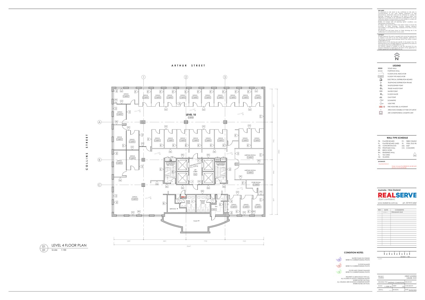 A SAMPLE OF AN EXISTING CONDITION FLOOR PLAN OF PROPERTY FROM REALSERVE