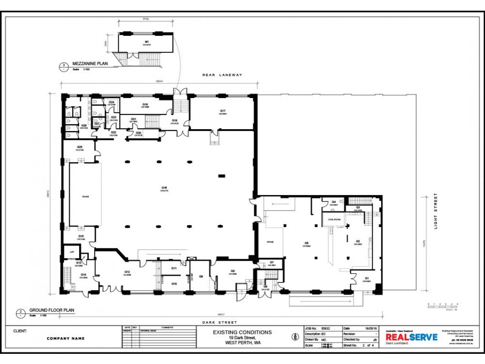 A SAMPLE OF A EXISTING CONDITION PLAN FOR A COMMERCIAL PROPERTY SITE BY REALSERVE