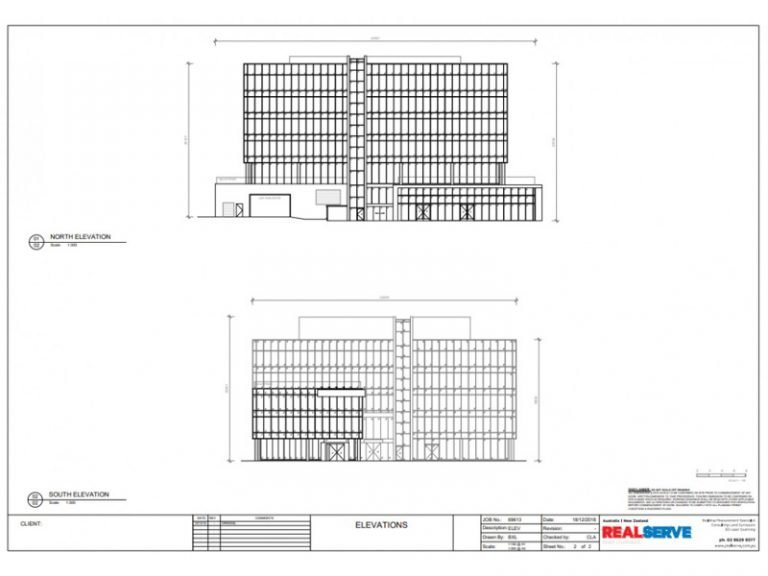 REALSERVE EXISTING CONDITION PLAN FOR A COMMERCIAL PROPERTY OF FACADE CLADDING