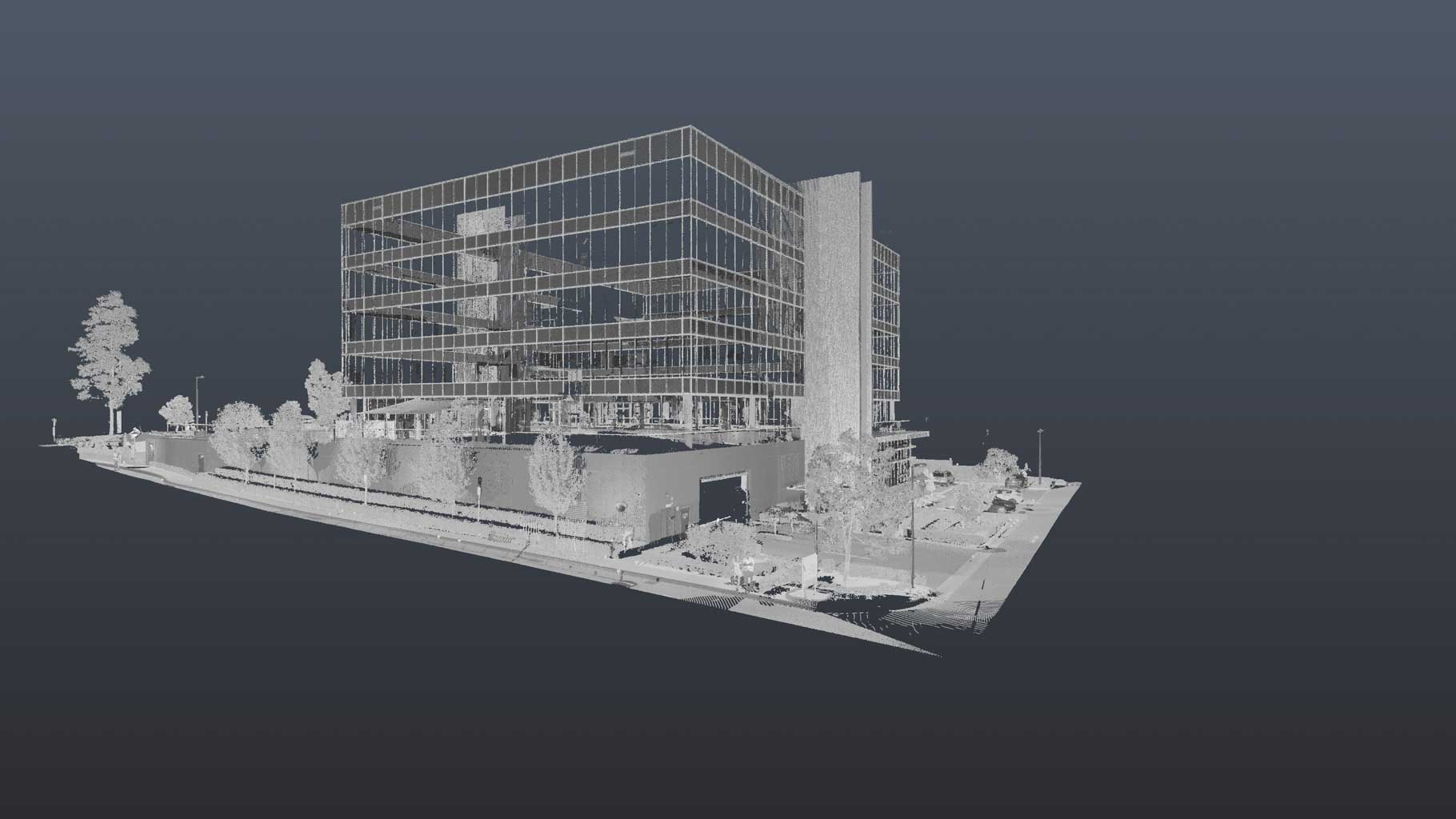 A SAMPLE OF A 3D SCAN FOR AN EXTERNAL ELEVATION DRAWING BY REALSERVE OF A PROPERTY