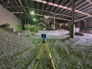 How 3D Scanning Geospatial Technology from Realserve can create a Volumetric Analysis for a commercial property inside the storage area