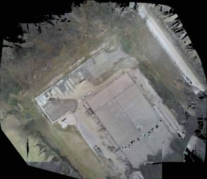 How 3D Scanning Geospatial Technology from Realserve can create a Volumetric Analysis for a commercial property with an RPA aerial view above