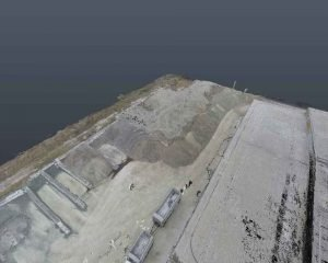 How 3D Scanning Geospatial Technology from Realserve can create a Volumetric Analysis for a commercial property with an RPA aerial view angle