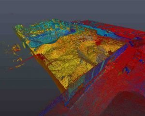 How 3D Scanning Geospatial Technology from Realserve can create a Volumetric Analysis for a commercial property with point cloud