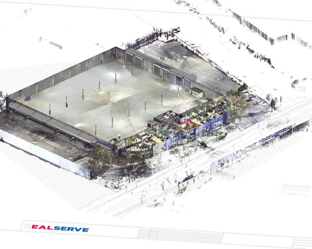How to refit a warehouse using 2D surveys and 3D scanning point cloud with revit model from Realserve part 1