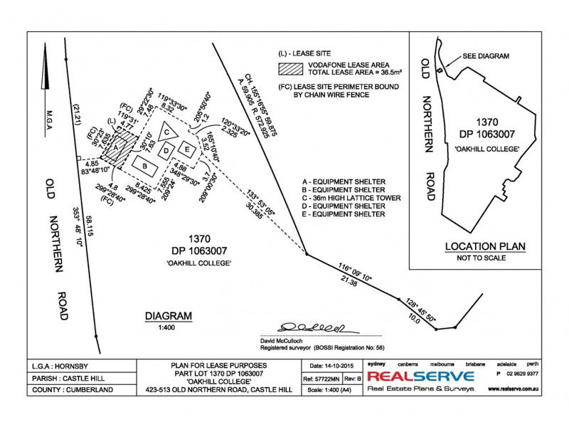 REALSERVE BOUNDARY SURVEY SAMPLE FOR LEASE PURPOSES