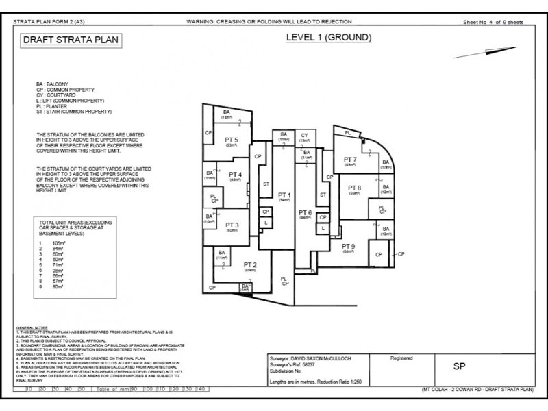 REALSERVE SUBDIVISION PLANS SAMPLE OF THE GROUND FLOOR