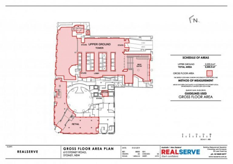 REALSERVE LEASING SURVEY GROSS FLOOR AREA SURVEY PLAN SAMPLE