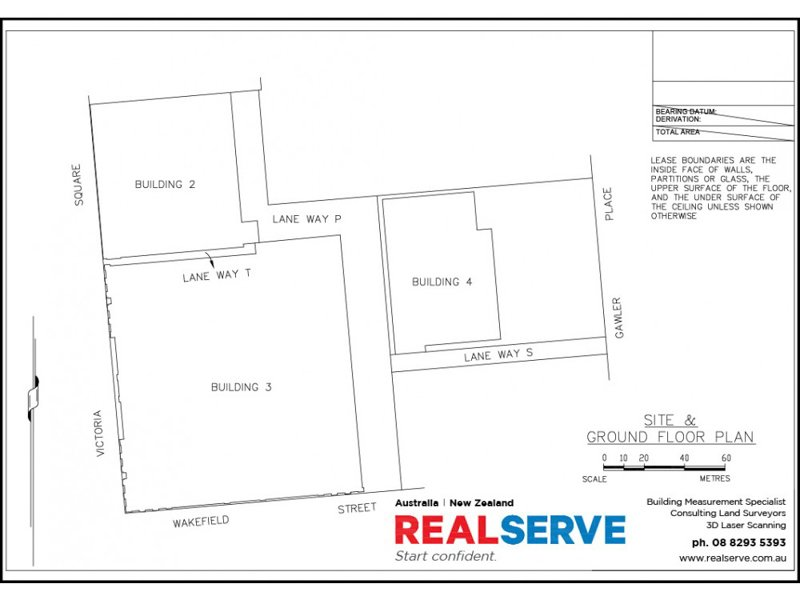 REALSERVE LEASING SURVEY SA FILED PLAN SAMPLE OF A RETAIL SITE