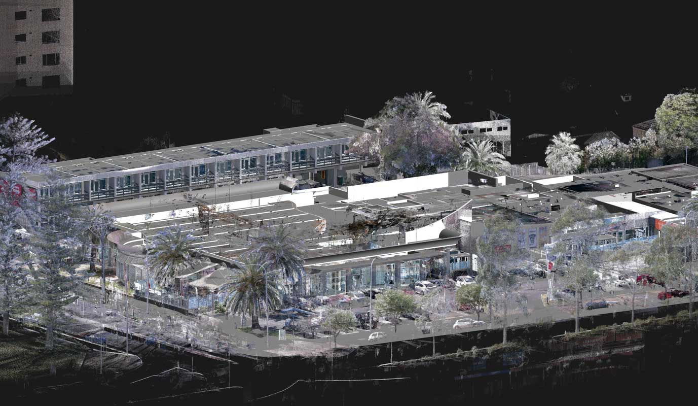 COMBINED POINT CLOUD SURVEY DATA AND 3D REVIT MODEL