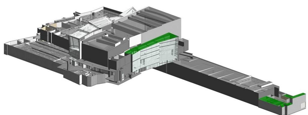 REALSERVE 3D SCANNING REVIT MODEL EXAMPLE OF A SHOPPING CENTRE