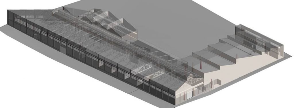 REALSERVE 3D SCANNING REVIT MODEL EXAMPLE OF A WAREHOUSE