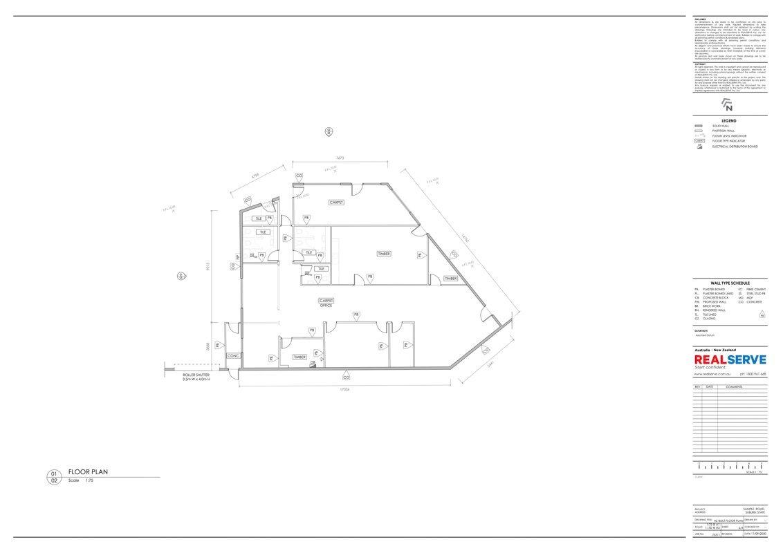 REALSERVE AUSTRALIAN SURVEYOR FOR AS BUILT WAREHOUSE FLOOR PLAN SURVEY