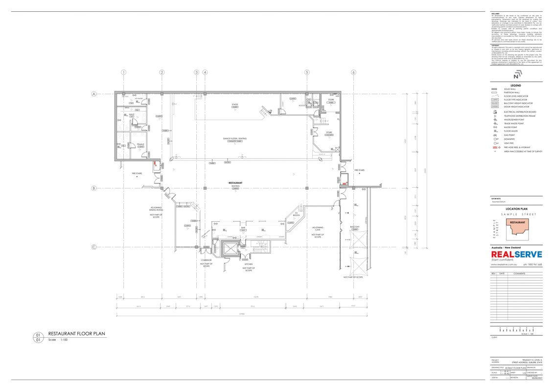 2D AS BUILT REFLECTED CEILING PLAN DRAWING PRODUCED FROM SCAN TO BIM SERVICE
