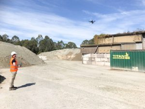 Realserve Aerial Survey equipment being used to create a 3D Scanning Geospatial Volumetric Analysis for a commercial property