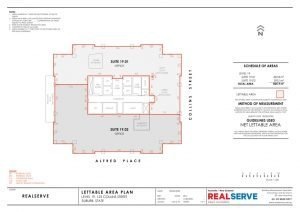 Realserve Pty Ltd - a property measurement and surveyor company in Australia that can do Gross Lettable or Nett Lettable Area Plans for commercial office property