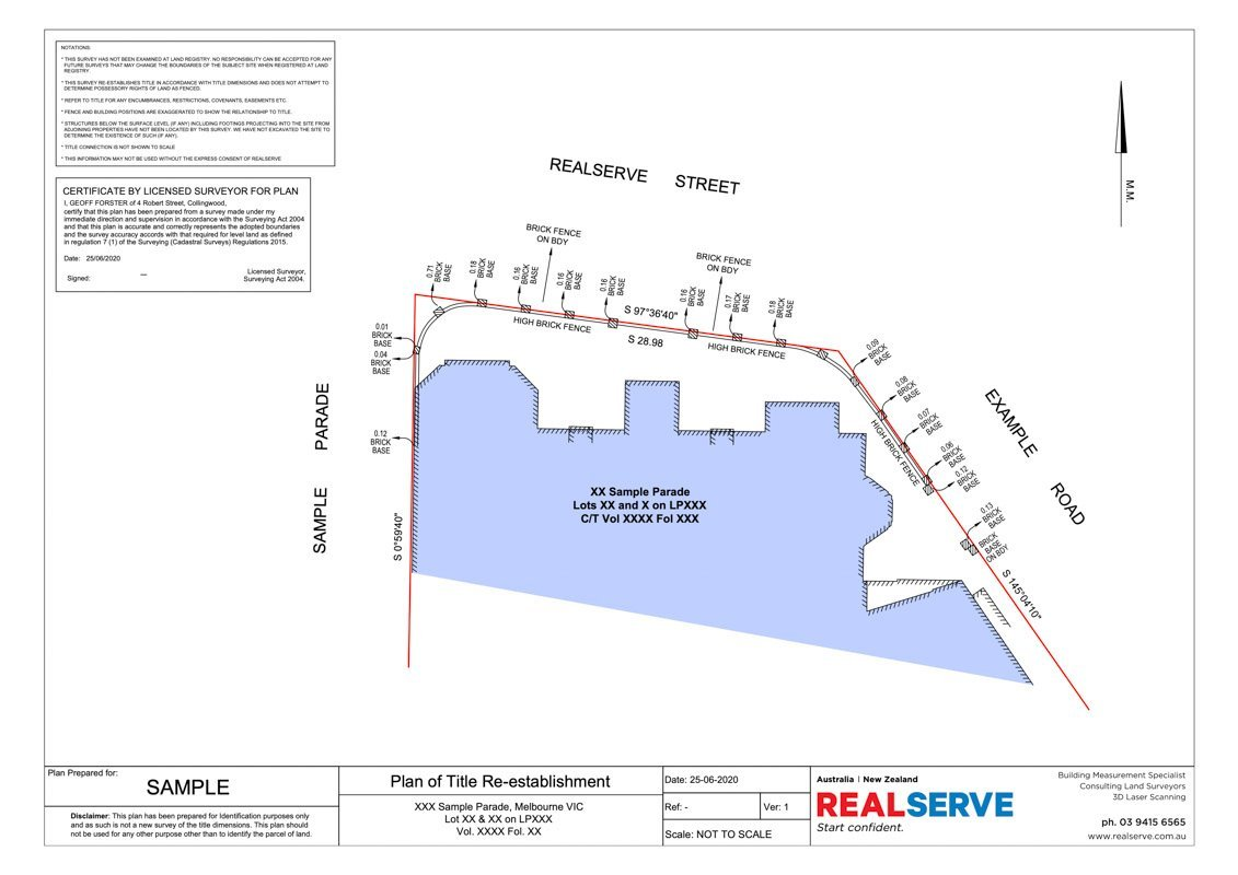 Realserve Victoria Boundary Surveyor Company in Australa that can do Title Re-Establishment Survey Plan for a property