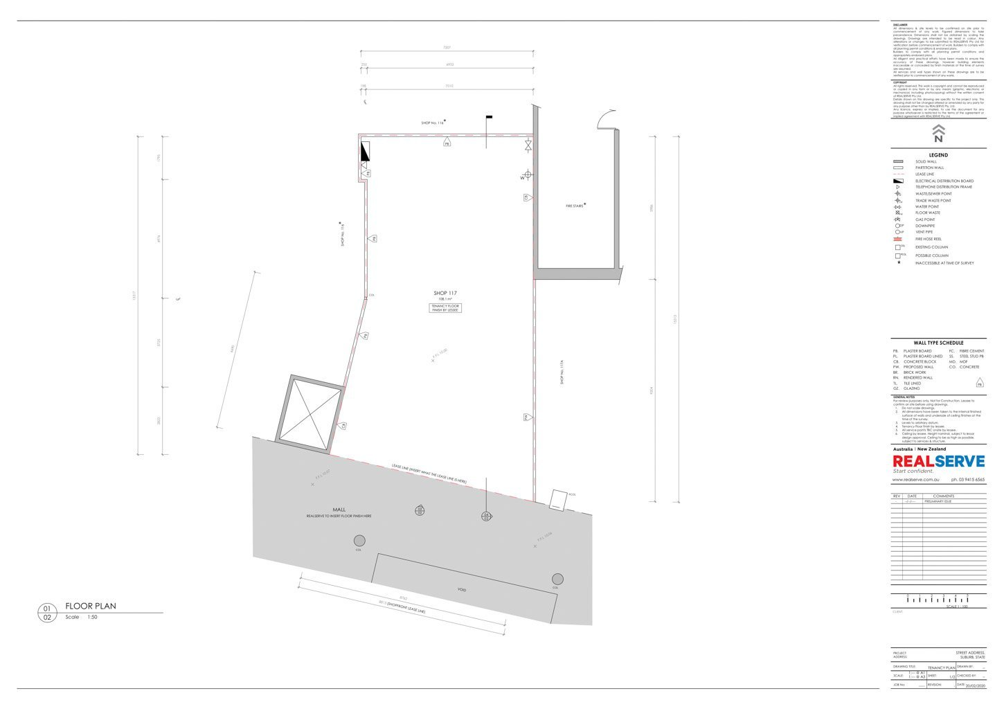 REALSERVE GENERAL TENANCY PLAN WITH FLOOR PLAN SAMPLE