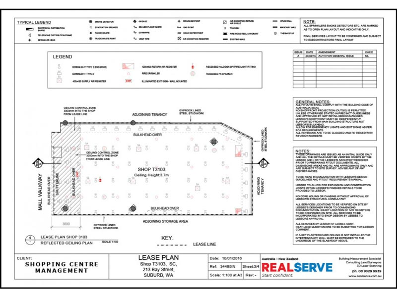 REALSERVE RCP RETAIL TENANCY PLAN SAMPLE OF A SHOPPING CENTRE MAP