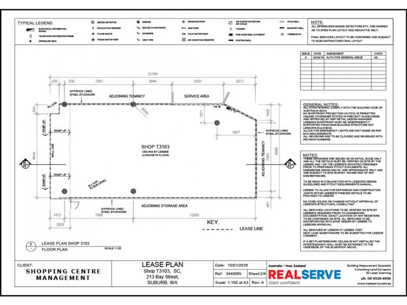REALSERVE RETAIL TENANCY FLOOR PLAN SAMPLE