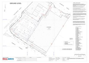 Sample of.a Feature and Level Survey Plan from Realserve surveying company in Melbourne