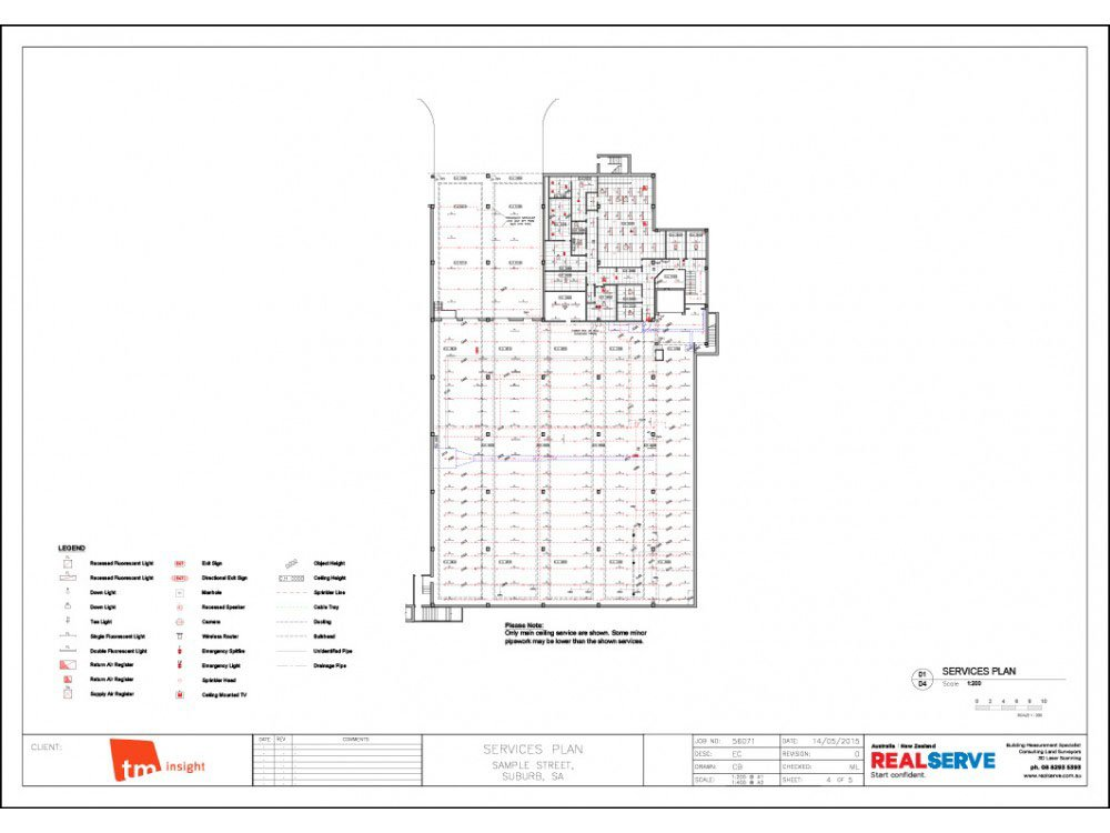 REALSERVE SERVICES PLAN FOR A COMMERCIAL PROPERTY