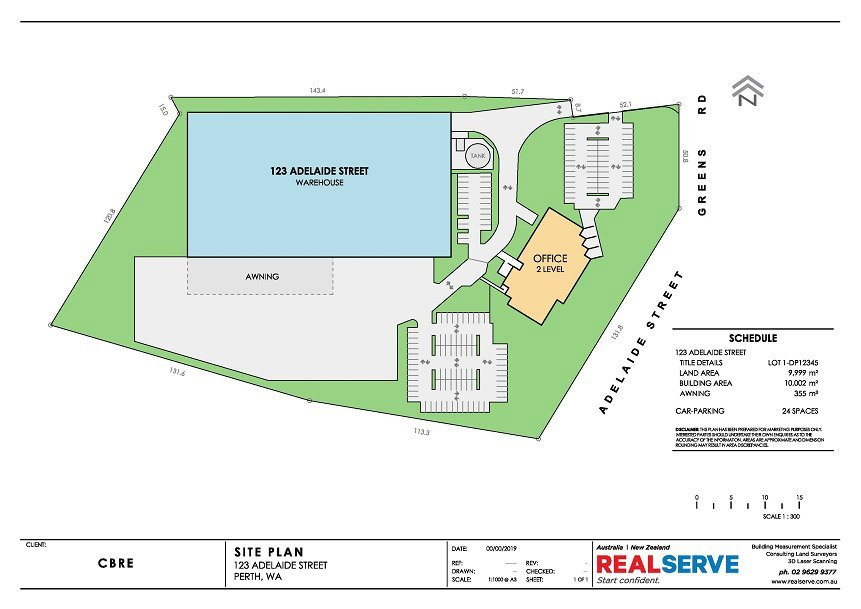 REALSERVE SITE PLAN EXAMPLE OF A LARGE INDUSTRIAL PROPERTY