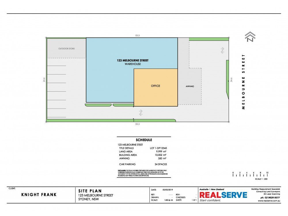 REALSERVE SITE PLAN EXAMPLE OF A SMALL COMMERCIAL PROPERTY