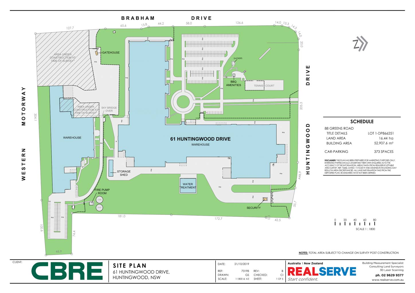 SITE PLAN SAMPLE FROM REALSERVE FOR A COMMERCIAL PROPERTY