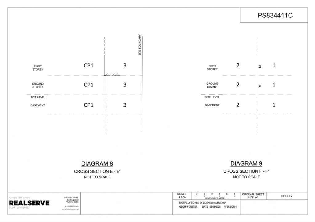 Victorian Plan of Subdivision sample a from Realserve Victorian Surveyor Service Company_