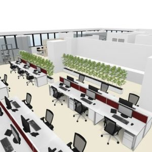 REALSERVE INTERACTIVE FLOOR PLAN WITH 3D SCANNING AND MODELLING SAMPLE OF OFFICE DESKS